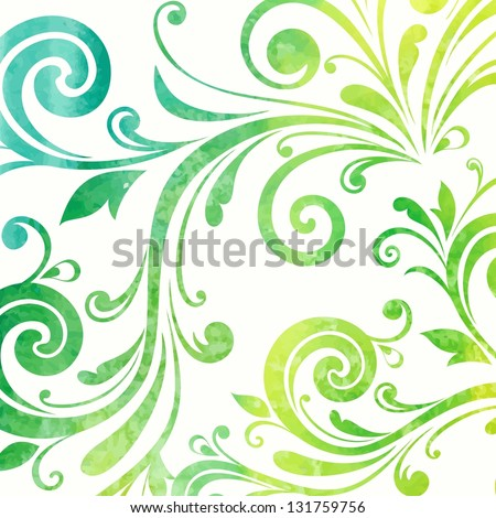 Floral pattern. Watercolor background. - stock vector