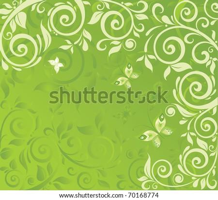 Floral retro easter card - stock vector