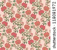 floral rose pattern - stock vector
