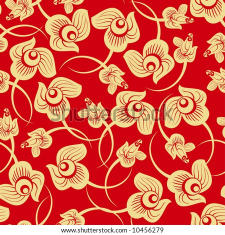 Floral Rose seamless pattern - stock vector