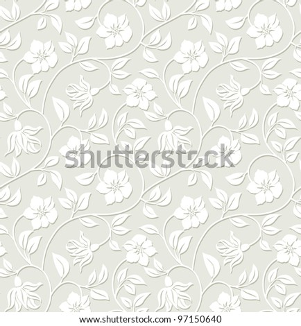Floral seamless background - pattern for continuous replicate. - stock vector