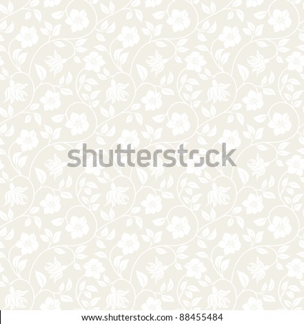 Floral seamless background - pattern for continuous replicate. See more seamless backgrounds in my portfolio. - stock vector