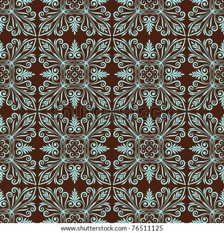 Floral seamless ornamental pattern. Vector background. - stock vector