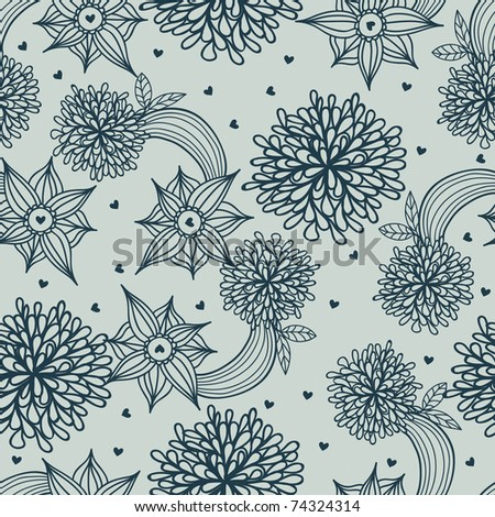 Floral seamless pattern - stock vector