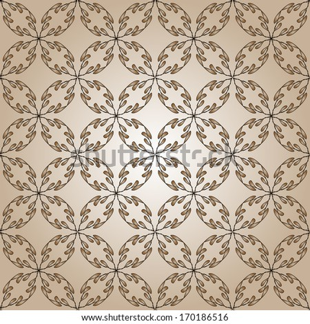 Floral Seamless pattern background - stock vector