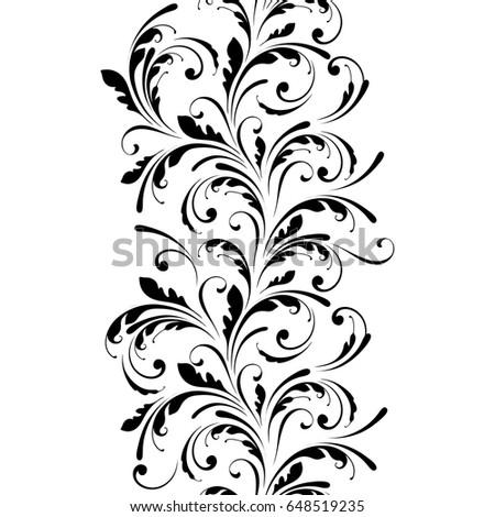 floral seamless pattern endless flowers border stock vector hd rh shutterstock com vector floral patterns illustrator vector floral pattern free download