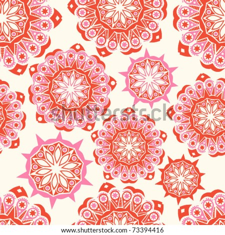 Floral seamless pattern, endless texture.