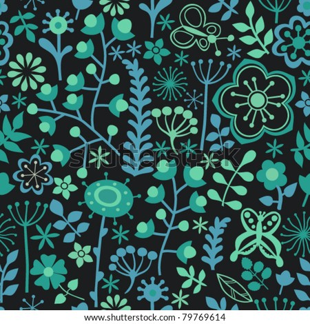floral seamless pattern, endless texture with flowers