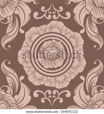 floral seamless pattern for design. Vector Illustration - stock vector