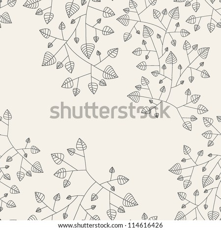 Floral seamless pattern. Hand drawn repeating texture - stock vector