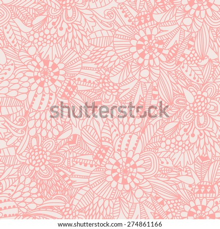 Floral seamless pattern in popular pink color. Sweet background for lovely wallpapers - stock vector