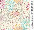 Floral seamless pattern in vector..Seamless pattern can be used for wallpaper, pattern fills, web page background,surface textures. - stock photo