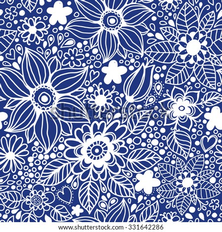 Floral seamless pattern.Seamless pattern can be used for wallpaper, pattern fills, web page background,surface textures - stock vector