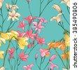 floral seamless pattern. sketch ...