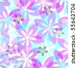 Floral seamless pattern. Vector - stock vector