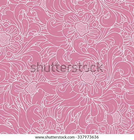Floral seamless pattern. Vector abstract wallpaper