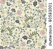 floral seamless pattern, vector design - stock photo