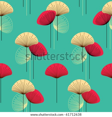 Floral seamless vector pattern - stock vector