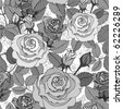 Floral seamless vintage pattern - stock vector