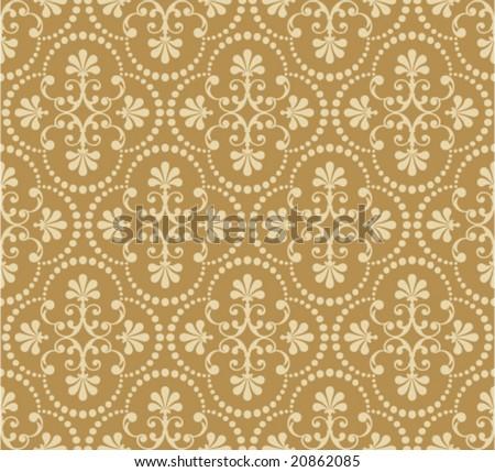 Floral seamless wallpaper. - stock vector