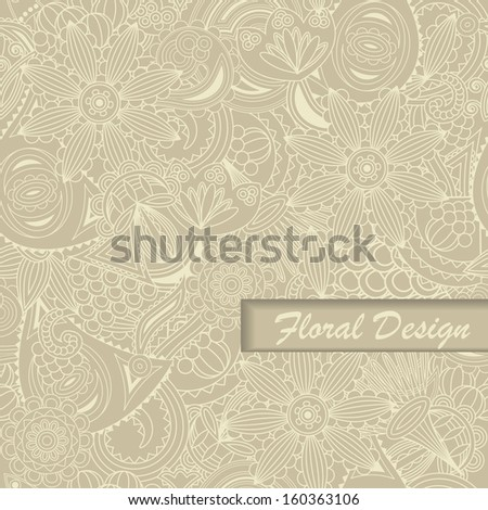 Floral seamless wallpaper. Elegant background. Pastel colors    - stock vector