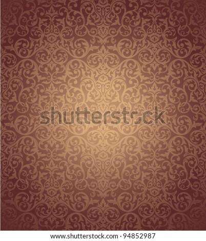 floral seamless wallpaper vector illustration - stock vector