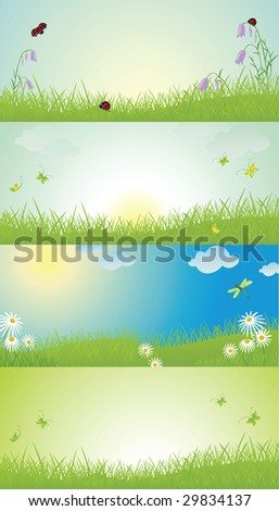 Floral spring background - stock vector