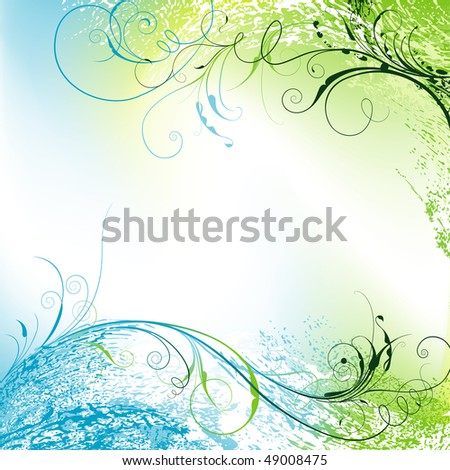 Floral Spring Background, editable vector illustration - stock vector