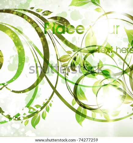 Floral spring design elements. Flower abstract background for retro design. Vector. eps 10. - stock vector