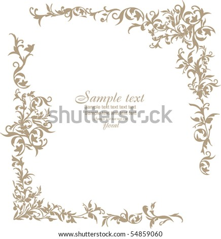 floral square - stock vector