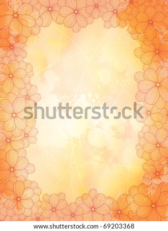 Floral style vector frames . eps10 - stock vector