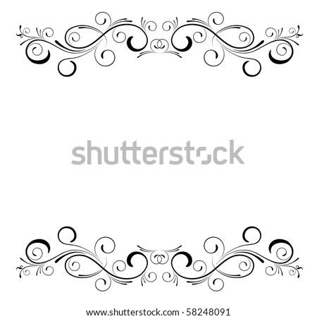 floral template - stock vector