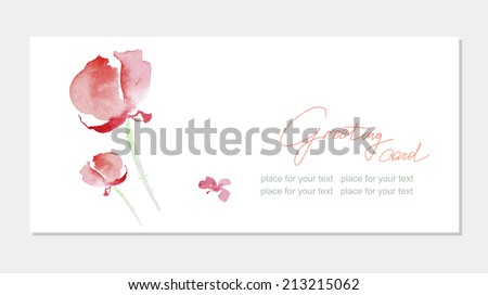 Floral 'Thank you' card with beautiful realistic spring pink flowers and banner with drop shadows on a beige elegant background in modern style. Perfect for wedding, greeting or invitation design - stock vector