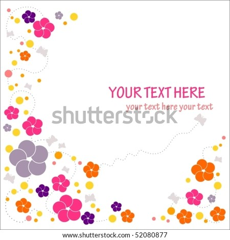 floral theme background with place for your text - stock vector
