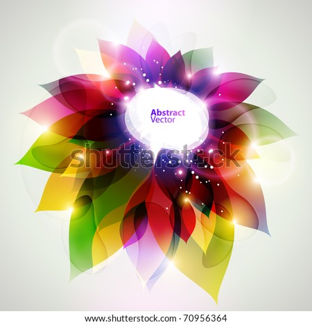 floral vector abstract background - stock vector