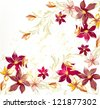 Floral vector background - stock photo