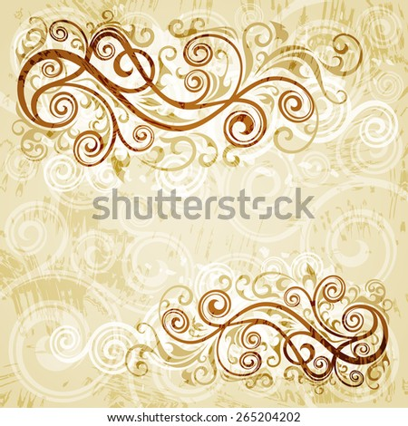 Floral vector background. - stock vector