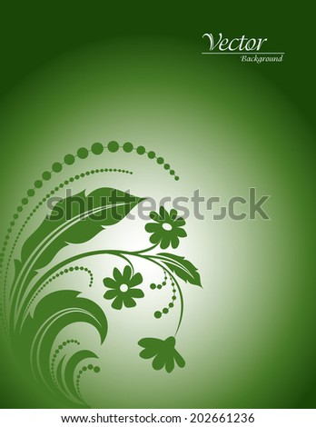 Floral Vector Background. Abstract Illustration.