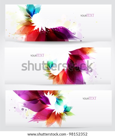 Floral vector background brochure template. - stock vector