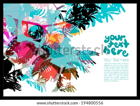 Floral Vector Background for text - stock vector