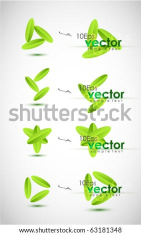 Floral vector design elements - stock vector