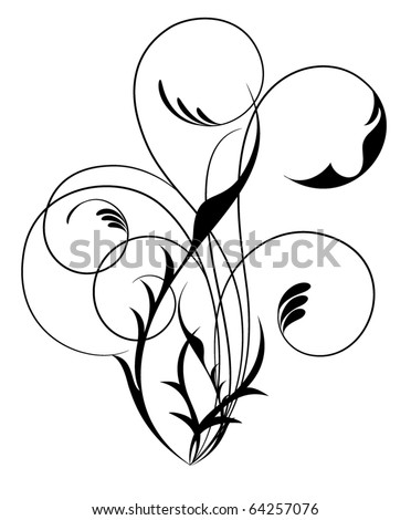 Floral. Vector illustration. - stock vector