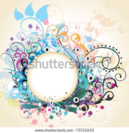 floral vector illustration - stock vector