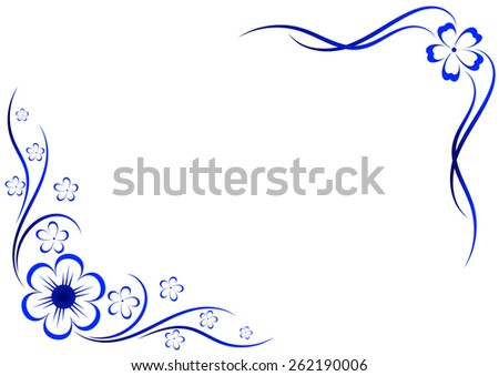 Floral vector ornament. Formed as a frame - stock vector