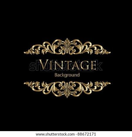 Floral vintage background in editable vector format - stock vector