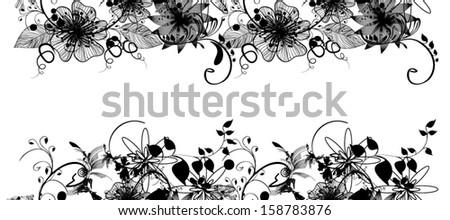 floral vintage  pattern - stock vector