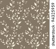 Floral vintage seamless pattern a hand-painted, brown and beige - stock vector