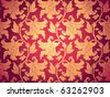 floral wallpaper, seamless, after remove the gradient - stock vector