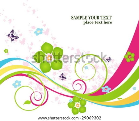 Floral wave background