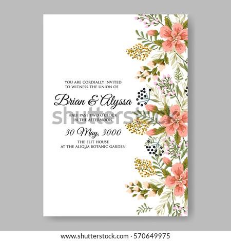 Floral wreath wedding invitation em vetor stock 570649975 shutterstock floral wreath wedding invitation stopboris Images